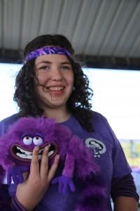 Natalie at the 2014 Purple Dash 5k
